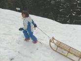 sled going uphill, slitta in salita