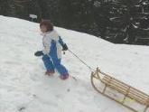 sled going uphill, slitta in salita