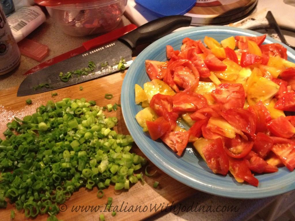 Skinny caprese salad ingredients