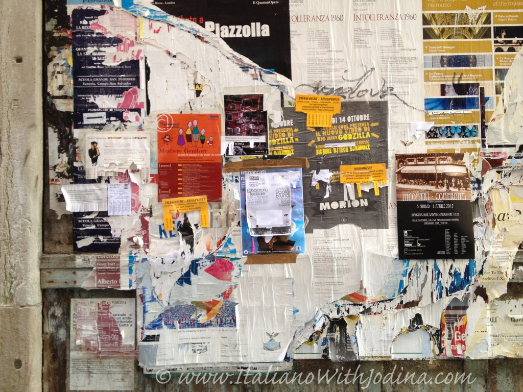 community bulletin board in italy