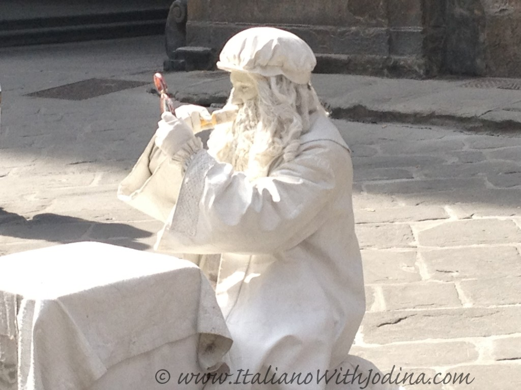 a human statue in florence italy