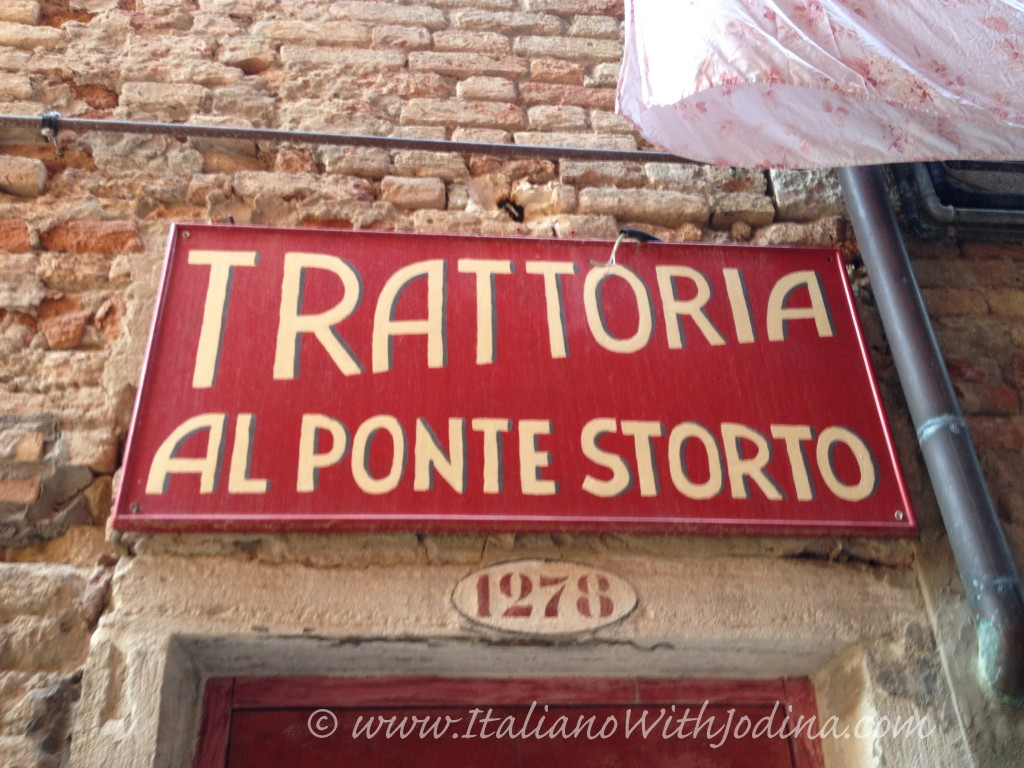 trattoria ponte storto - the crooked bridge restaurant