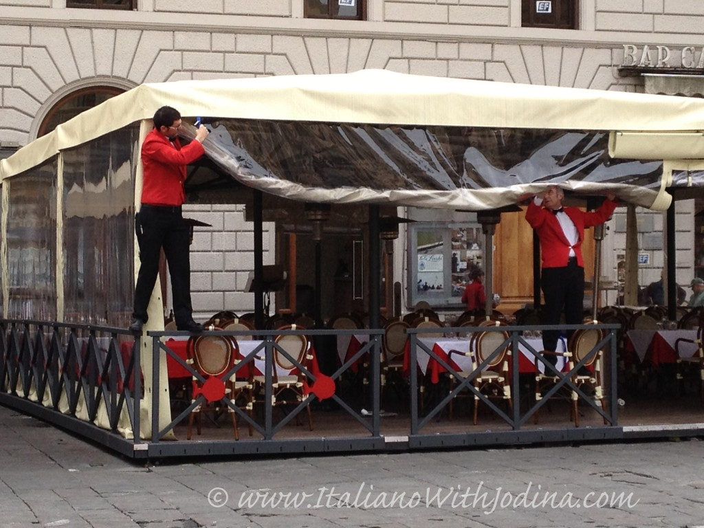 waiters in florence italy