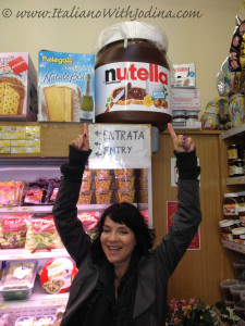 giant jar of nutella in florence italy