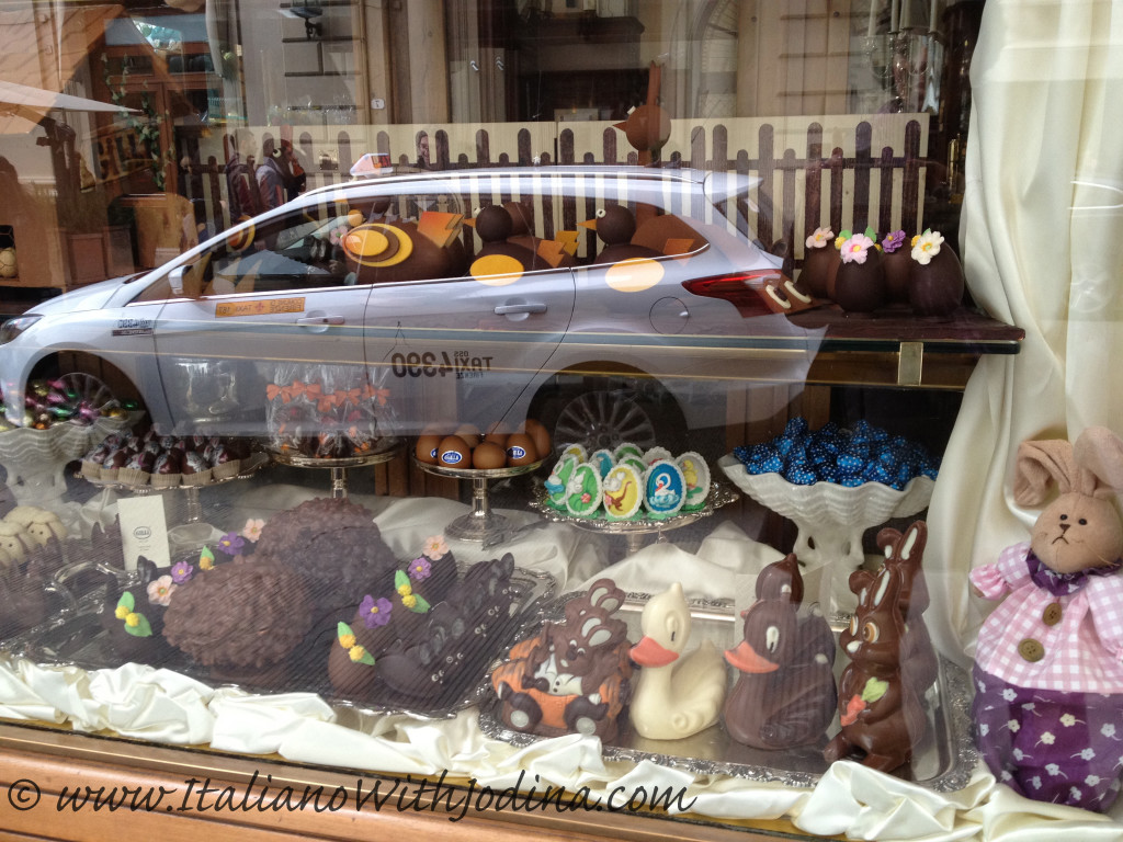 easter shop windows italy