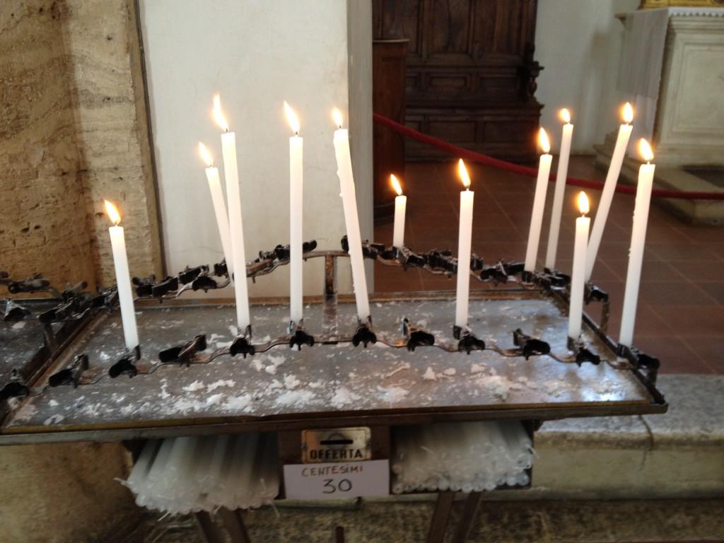 candela per nonna