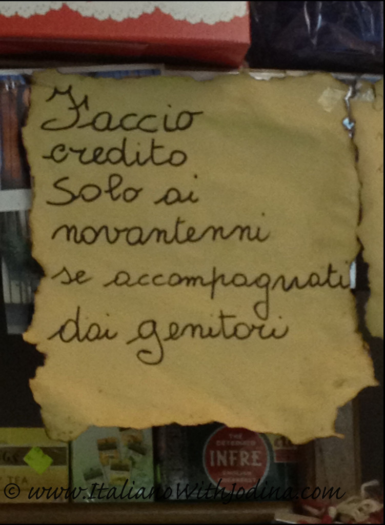 fruttivendolo credit policy-greve-greengrocer's humorous strore credit policy