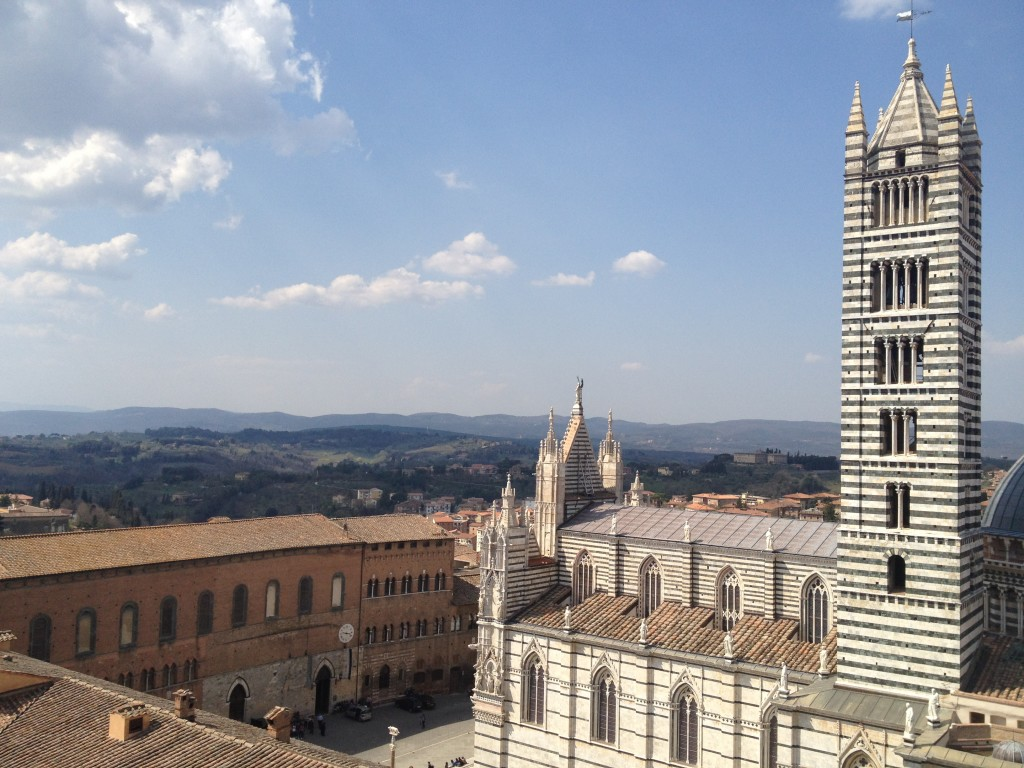 view from on high of duomo of siena, itaky