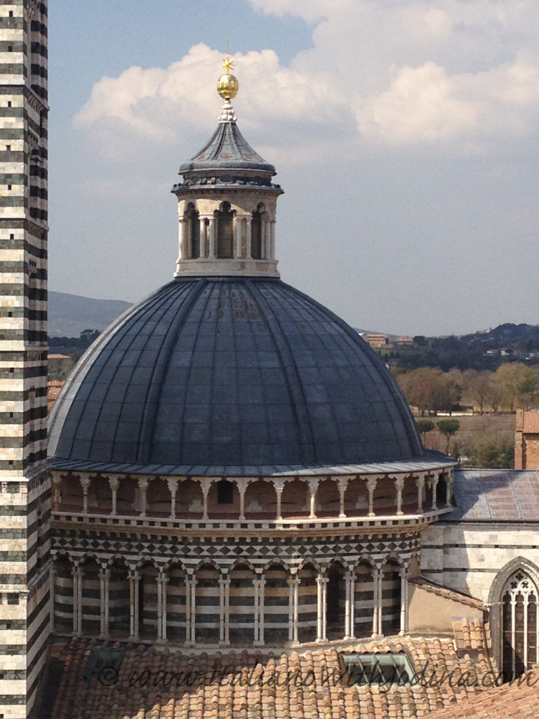 view from on high of cupola siena italy