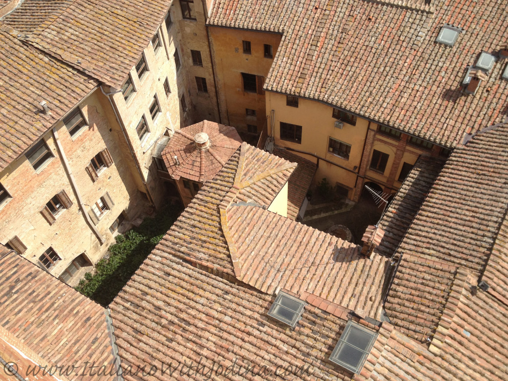 view of rooftops siena italy