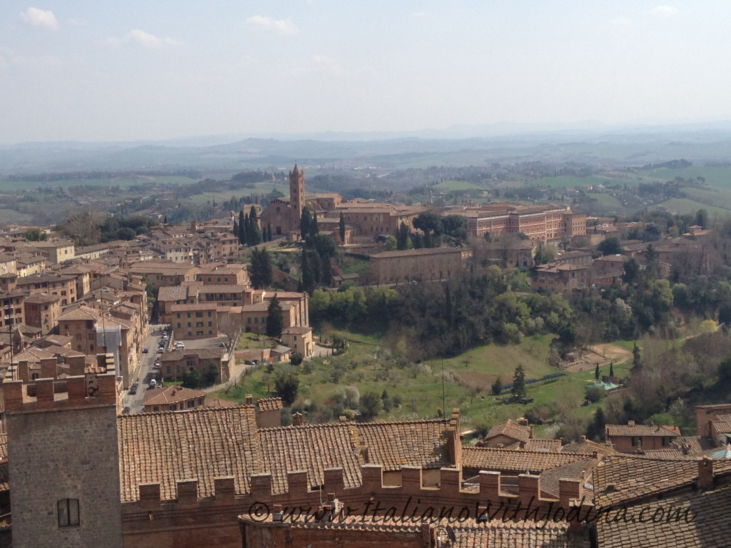 view of siena countryside  in Ialy