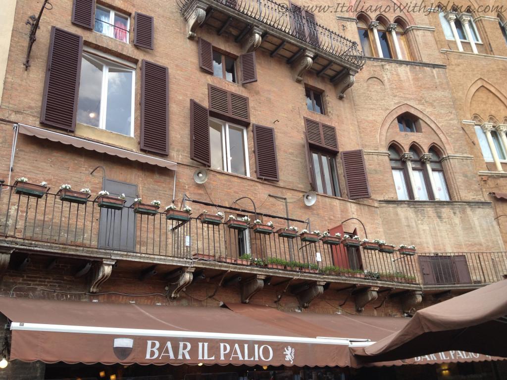 Piazza del Campo Bar Palio - siena italy - jodina