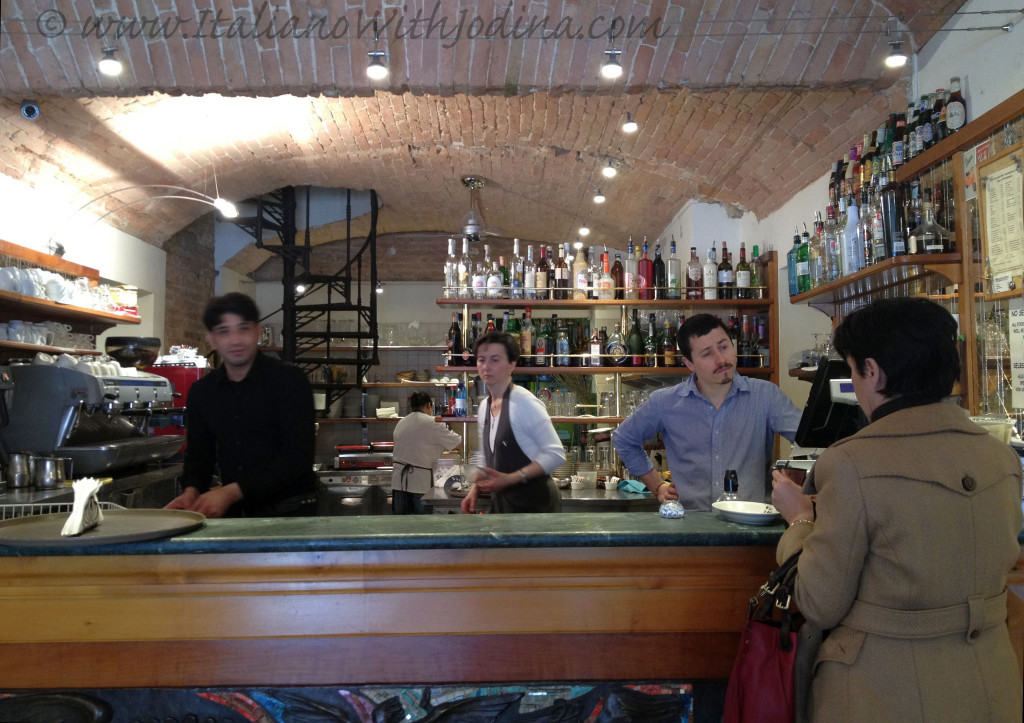 the staff and barristas of a coffee shop in Piazza  del Campo siena italy, jodina