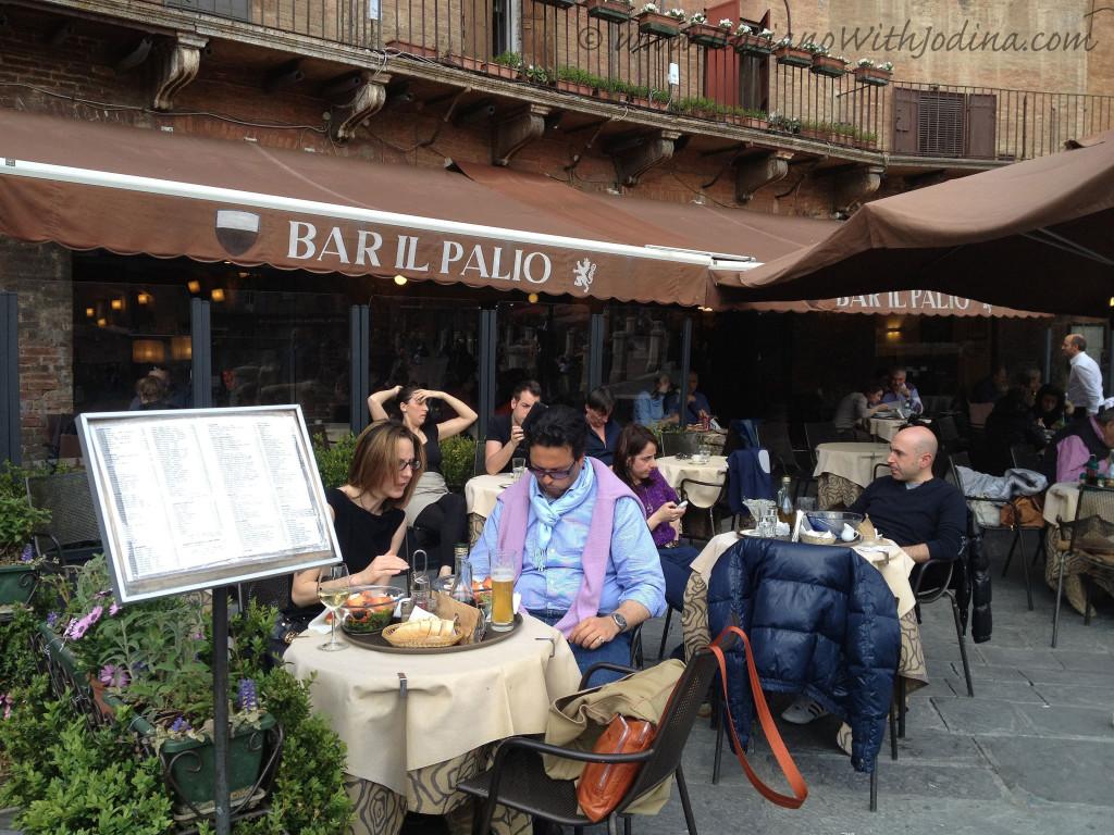 Bar Palio patrons Piazza del Campo siena italy - jodina
