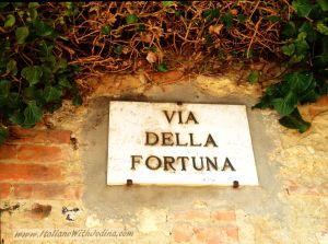 via della Fortuna.MonteP.street sign.WM